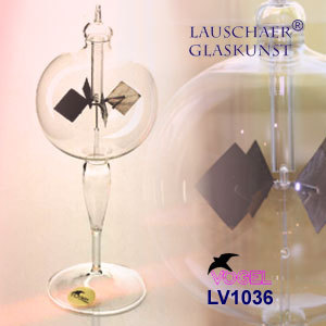 Radiometer with solid glass stem