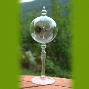Radiometer with ripped stem clear