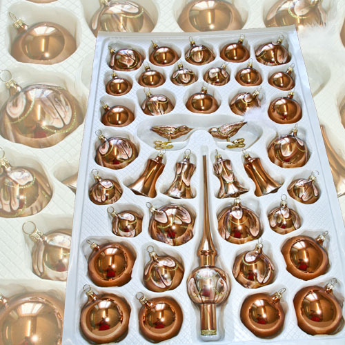 Christmas ball assortment Naturzeit Copper