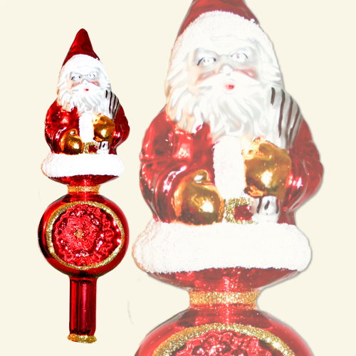 Christmas tree top Santa Claus