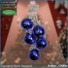 Christmas ball ensemble Naturzeit blau