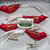 Birds Christmas decorations set Mystic Red