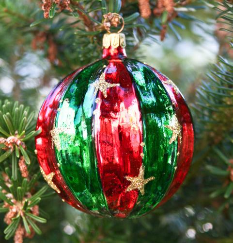 Christbaumkugeln Hellgrün.Christmas Ball Bergweihnacht 9 Cm