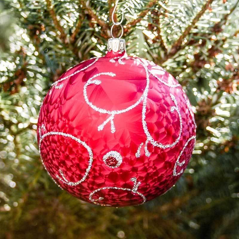 Lauschaer Weihnachtskugeln.Christmas Ball Rococo 8 Cm