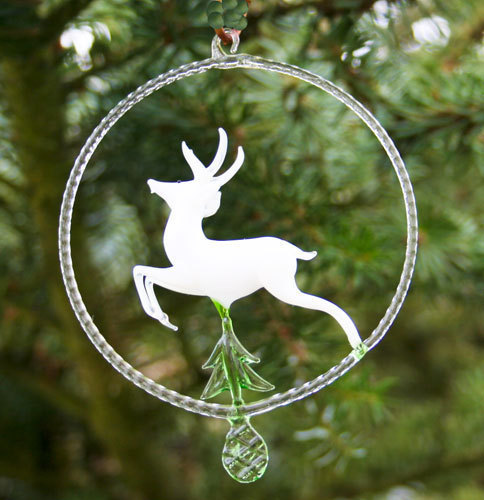 Deer in the glass ring