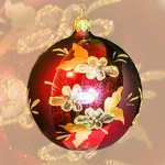 Christmas ball 8 cm Red Barock