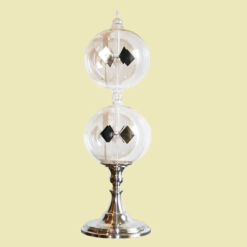 Radiometer double with a tin feet