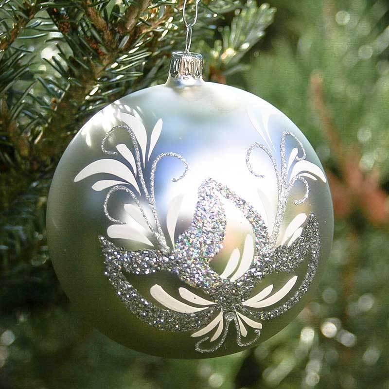 Christbaumkugeln Lauscha.Christmas Bauble Antique 10 Cm