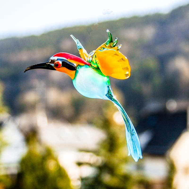 european bee eater lauscha glass art