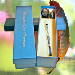 "Glass pen ""Compliments from Thüringen"""