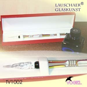 "Glass pen set ""Lether"" in attractive case"