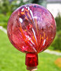 Garden ball ruby red transparent